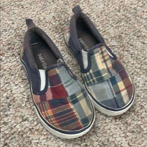 Baby Gap plaid slip on shoes